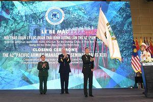 Bế mạc Hội thảo Quản lý Lục quân Thái Bình Dương lần thứ 42