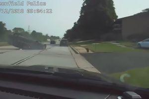 Cảnh rượt đuổi như phim hành động của cảnh sát Mỹ