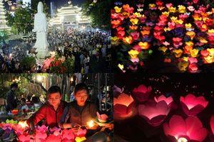Hoa đăng rực sáng đêm Vu Lan trên sông Sài Gòn