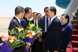 Chủ tịch nước Trần Đại Quang bắt đầu thăm cấp nhà nước đến Ai Cập
