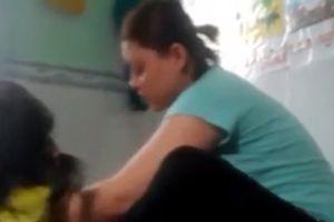 Kiểm tra sức khỏe 3 cháu bé bị bảo mẫu bạo hành dã man ở An Giang
