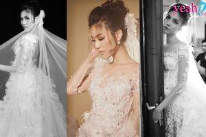 Sau Nhã Phương, đến lượt Lan Khuê khoe vẻ đẹp tựa thiên thần trong váy cưới màu trắng tinh khôi