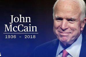 Lãnh đạo Việt Nam gửi điện chia buồn Thượng nghị sĩ John McCain qua đời