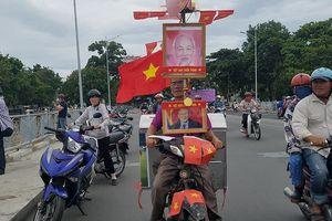 Độc chiêu cổ vũ Olympic Việt Nam của người đàn ông bán bánh mì
