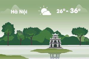 Thời tiết ngày 27/8: Hà Nội nắng nóng 36 độ C