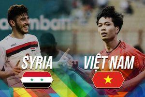 Video lịch sử đối đầu giữa bóng đá Việt Nam và Syria