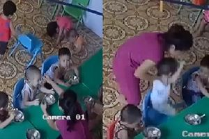 Cô giáo đánh trẻ bôm bốp ở Hà Nội đã bị nghỉ việc