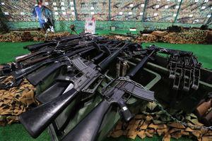 Cận cảnh dàn vũ khí của phiến quân bị tịch thu tại 'chảo lửa' Syria