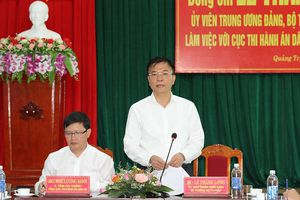 Bộ trưởng Lê Thành Long làm việc với Thường trực Tỉnh ủy và Cục THADS Quảng Trị