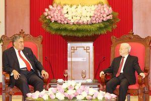 Tổng Bí thư Nguyễn Phú Trọng tiếp Tổng Bí thư Đảng Phong trào Cánh tả Thống nhất Cộng hòa Dominicana