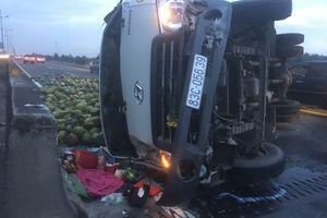 Tai nạn liên hoàn trên cao tốc, 4 xe ô tô biến dạng