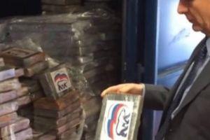 Bỉ phát hiện 2 tấn ma túy mang logo... đảng cầm quyền Nga