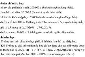 Tân sinh viên Trường ĐH Y khoa Phạm Ngọc Thạch chưa biết mức học phí