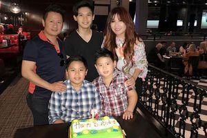 Bằng Kiều và vợ cũ hội ngộ trong tiệc sinh nhật con trai tại Mỹ