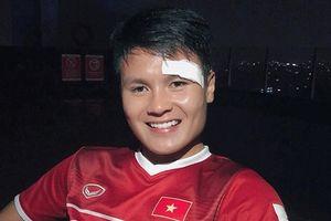 Quang Hải và người yêu đăng hình ảnh đầu tiên sau khi 'đổ máu' trong trận thắng Olympic Syria: 'Vẫn khỏe và đẹp trai nhé!'