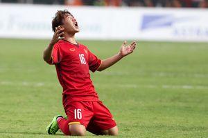 Pha đá phạt đẹp mắt của Minh Vương vào lưới Olympic Hàn Quốc