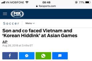 Báo chí thế giới nói gì trước trận Hàn Quốc gặp Việt Nam?