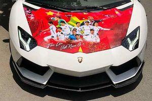 Siêu xe Lamborghini Aventador 26 tỷ cổ vũ Olympic Việt Nam