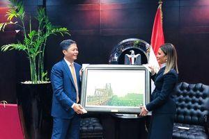 Bộ trưởng Bộ Công Thương Trần Tuấn Anh hội đàm song phương với Bộ trưởng Đầu tư và Hợp tác Quốc tế Ai Cập
