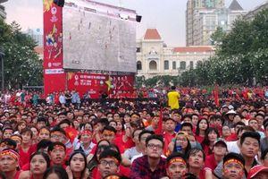 Cấm xe phố đi bộ Nguyễn Huệ để phát hình trận U23 Việt Nam - Hàn Quốc