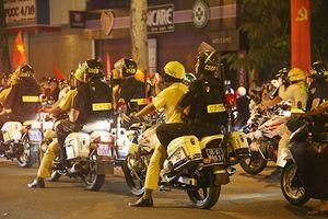 Hình sự TP HCM ghi hình người vi phạm khi cổ vũ tuyển Việt Nam