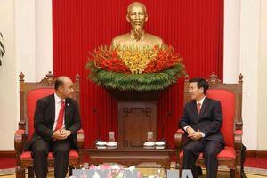 Đồng chí Võ Văn Thưởng tiếp Đoàn đại biểu cấp cao Hội Liên hiệp Thanh niên Campuchia