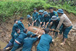 Yên Bái hủy nổ thành công quả bom nặng 350kg