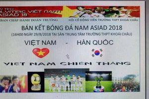 Cô giáo Hưng Yên vận động học sinh mang 'nồi niêu xoong chảo' cổ vũ Olympic Việt Nam