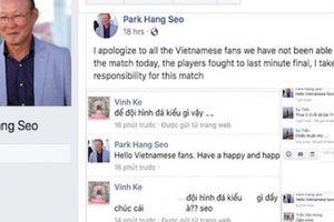 CĐV U23 Việt Nam 'dậy sóng' trên fanpage giả mạo ông Park Hang Seo
