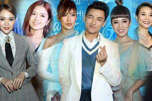 Isaac biểu cảm 50 sắc thái đáng yêu bên Phan Ngân tại họp báo phim 'Mùa viết tình ca'