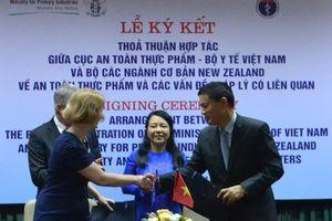 Việt Nam - New Zealand kí kết hợp tác kiểm soát an toàn thực phẩm