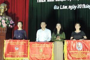 Hội đồng Đội huyện Gia Lâm nhận cờ thi đua xuất sắc