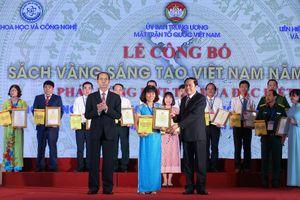 BẢN TIN MẶT TRẬN: Lễ công bố Sách Vàng Sáng tạo Việt Nam năm 2018