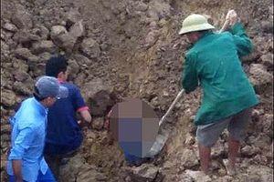 Đào mương thoát nước, một thanh niên tử vong vì lở đất