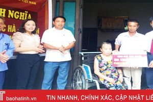 Agribank Lộc Hà hỗ trợ xây 5 nhà tình nghĩa