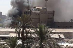Clip: Cháy lớn tại nhà máy điện tử ở Cairo