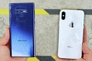 Thử thả rơi iPhone X và Samsung Galaxy Note9 để đọ độ bền và cái kết bất ngờ