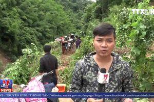 Quốc lộ 37 qua Sơn La bị chia cắt do mưa lũ