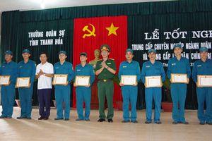 Thanh Hóa: Gần 150 học viên tốt nghiệp chuyên ngành quân sự cơ sở