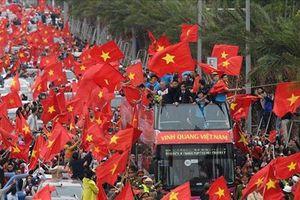 Lễ mừng công và giao lưu với Olympic Việt Nam diễn ra ở đâu?