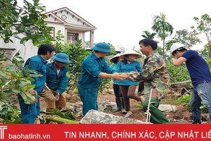 Hơn 2 tháng, Thạch Điền huy động gần 6.500 lượt người xây dựng nông thôn mới