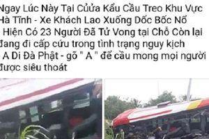 Sự thật thông tin tai nạn 23 người tử vong tại cửa khẩu Hà Tĩnh