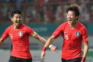 Hạ Nhật Bản, Olympic Hàn Quốc bảo vệ thành công HC vàng ASIAD