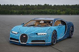 Lego sản xuất mô hình Bugatti Chiron, chạy như xe thật