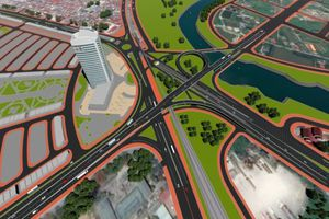 Khởi công dự án nút giao Nam Cầu Bính gần 1.500 tỷ đồng