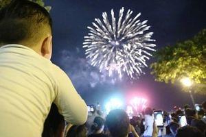 Pháo hoa sáng rực bầu trời TP Hồ Chí Minh nhân ngày Quốc khánh