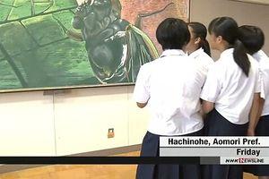 Tranh nghệ thuật trên bảng đen thu hút học sinh