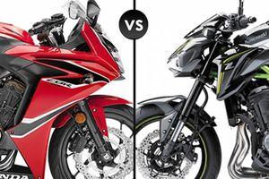 So sánh nhanh Honda CBR650F và Kawasaki Z900 2018