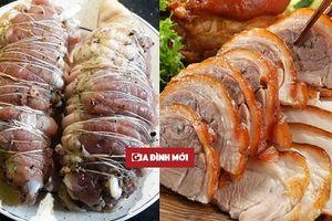 Thịt chân giò luộc sẽ thơm ngon, da giòn sần sật nhờ cả vào bí kíp gia truyền này