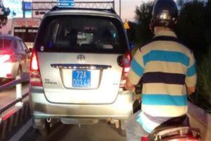 Ôtô biển xanh vi phạm trên cao tốc Long Thành: Tin mới